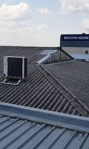 asbestos roof to be removed