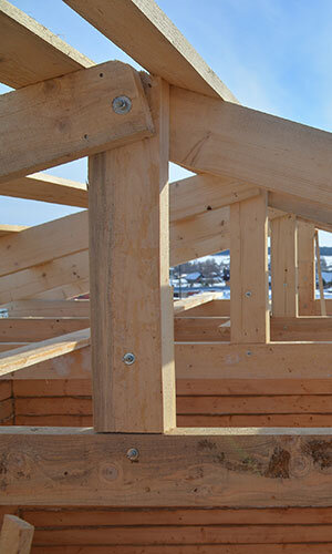 commercial property construction - wooden frame